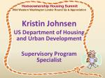 kristin johnsen us department of housing and urban development supervisory program specialist