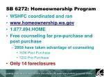 sb 6272 homeownership program
