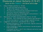 discourse on jesus authority 5 19 47 jesus on the sabbath life giver and judge