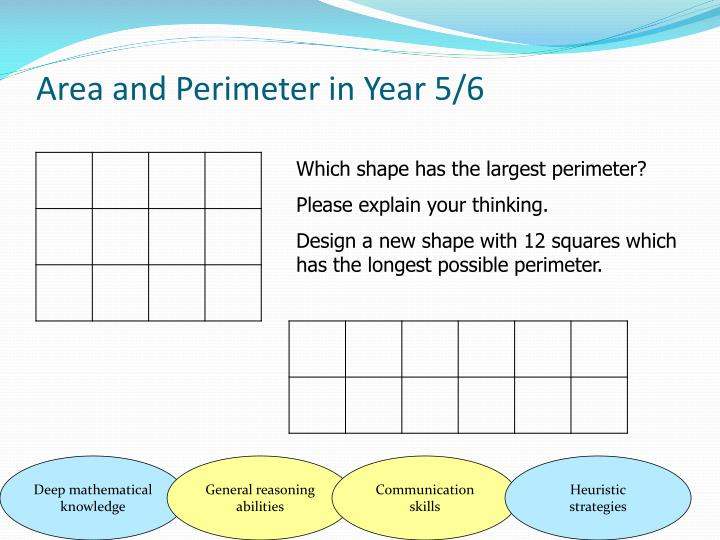 Area and Perimeter in Year 5/6