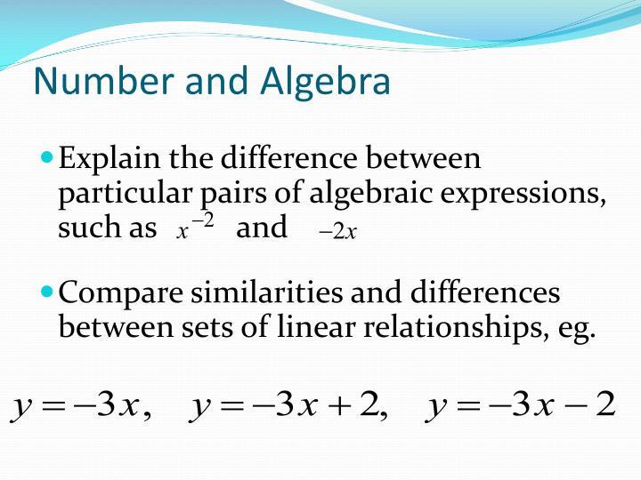 Number and Algebra
