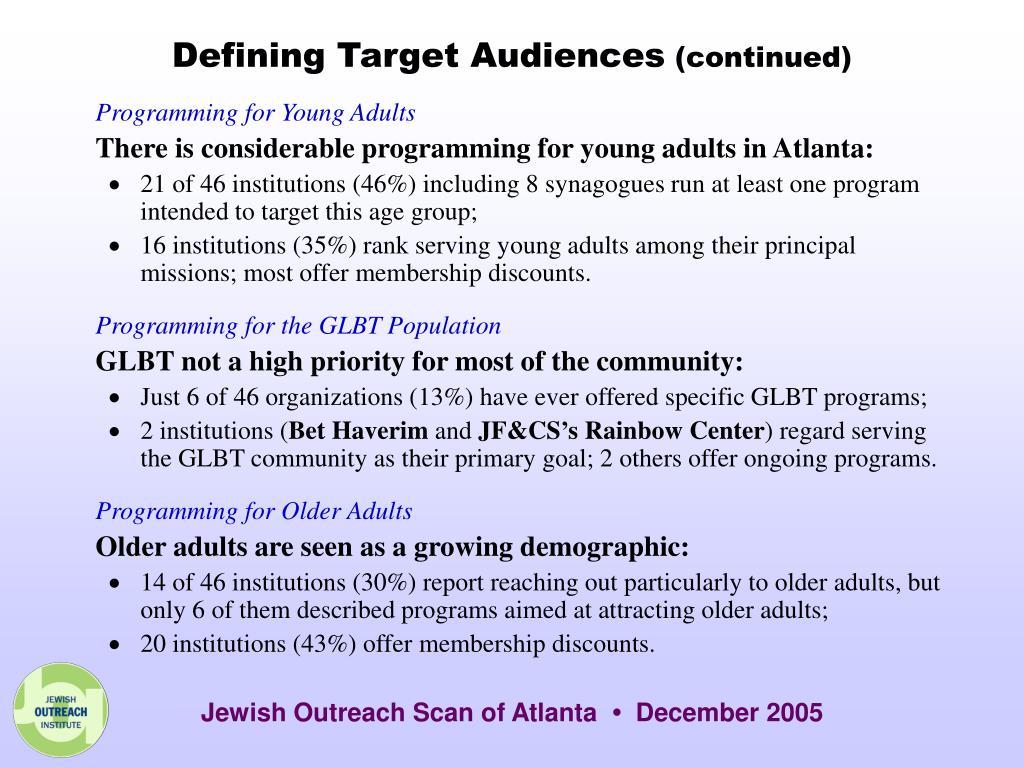 Defining Target Audiences