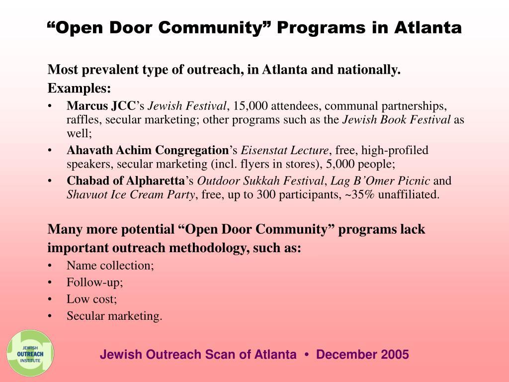 """""""Open Door Community"""" Programs in Atlanta"""