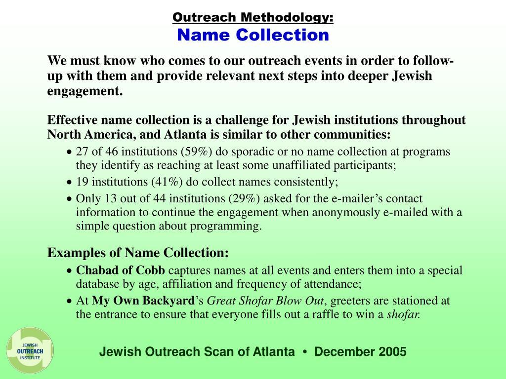 Outreach Methodology: