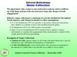 outreach methodology name collection