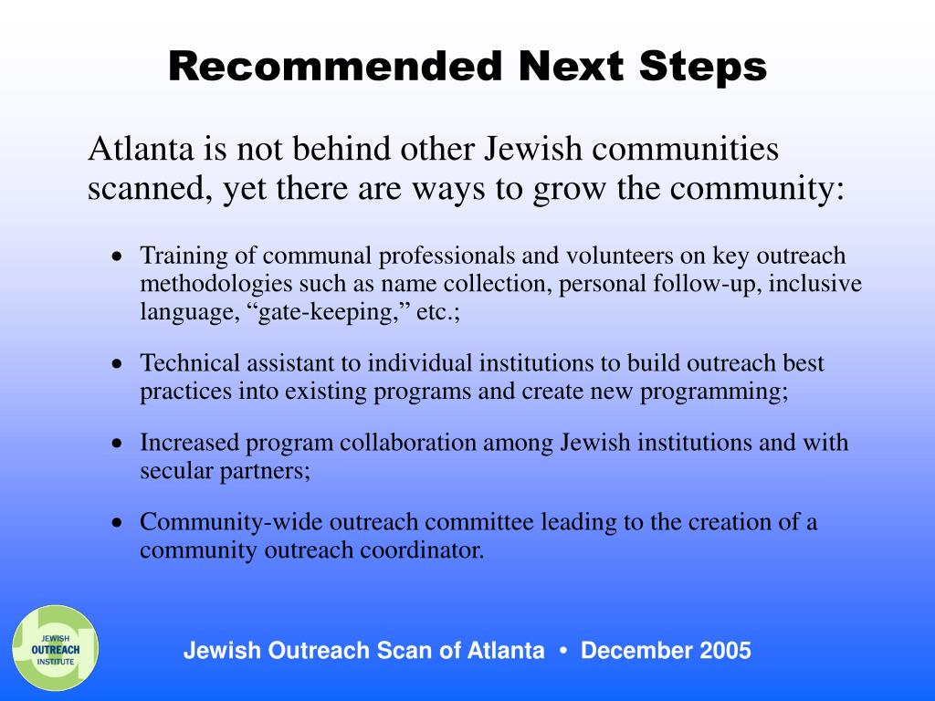 Recommended Next Steps
