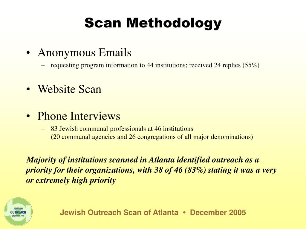 Scan Methodology