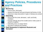 agency policies procedures and practices neti 20031