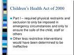 children s health act of 20001