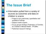 the issue brief