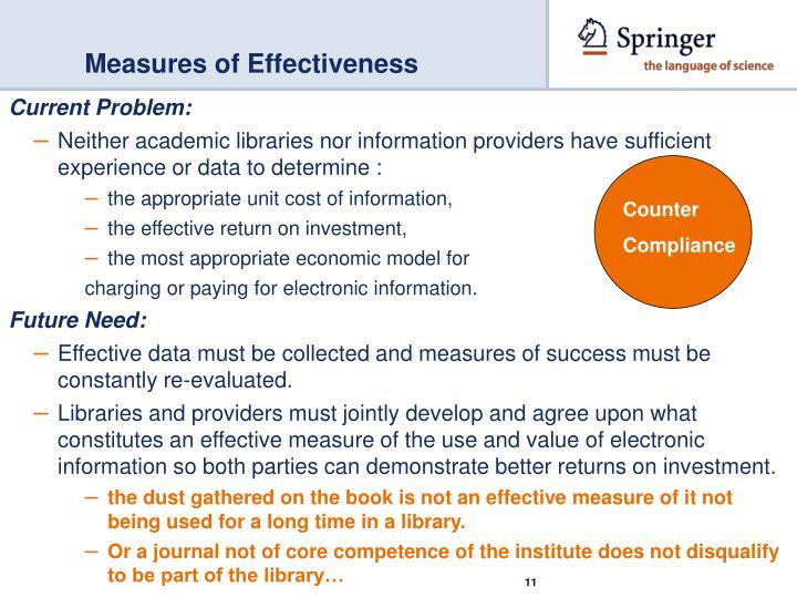 Measures of Effectiveness