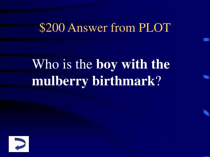 $200 Answer from PLOT
