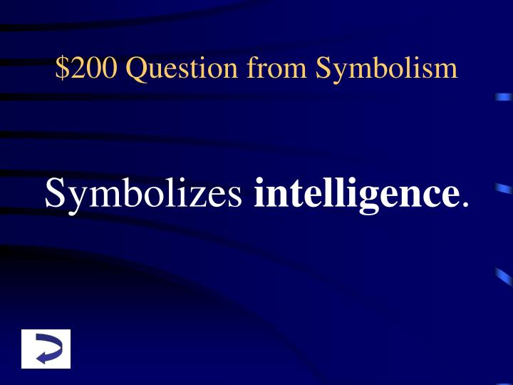 $200 Question from Symbolism