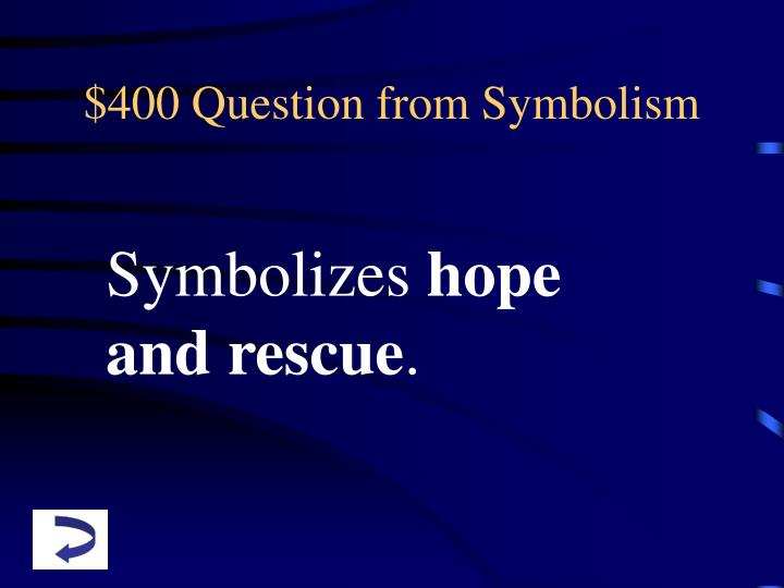 $400 Question from Symbolism