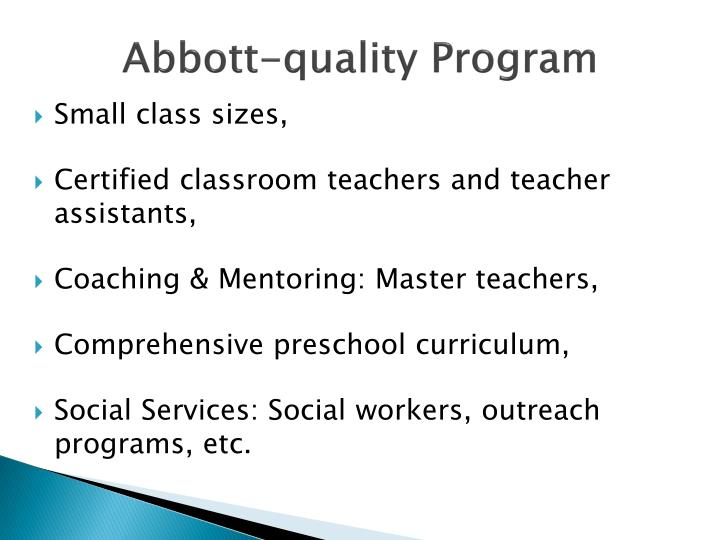 Abbott-quality Program
