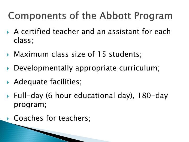 Components of the Abbott Program