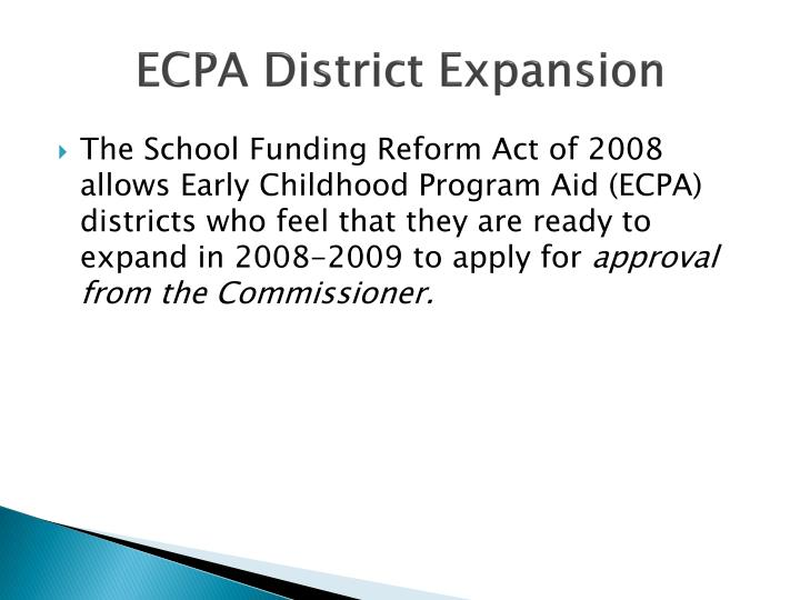 ECPA District Expansion