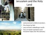 jerusalem and the holy land