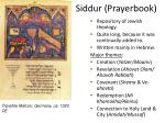 siddur prayerbook