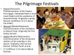 the pilgrimage festivals