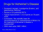 drugs for alzheimer s disease