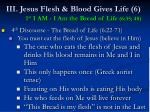 iii jesus flesh blood gives life 6 1 st i am i am the bread of life 6 35 4848