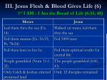 iii jesus flesh blood gives life 6 1 st i am i am the bread of life 6 35 4850