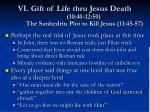vi gift of life thru jesus death 10 40 12 50 the sanhedrin plot to kill jesus 11 45 57
