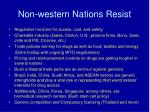 non western nations resist
