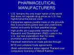 pharmaceutical manufacturers18