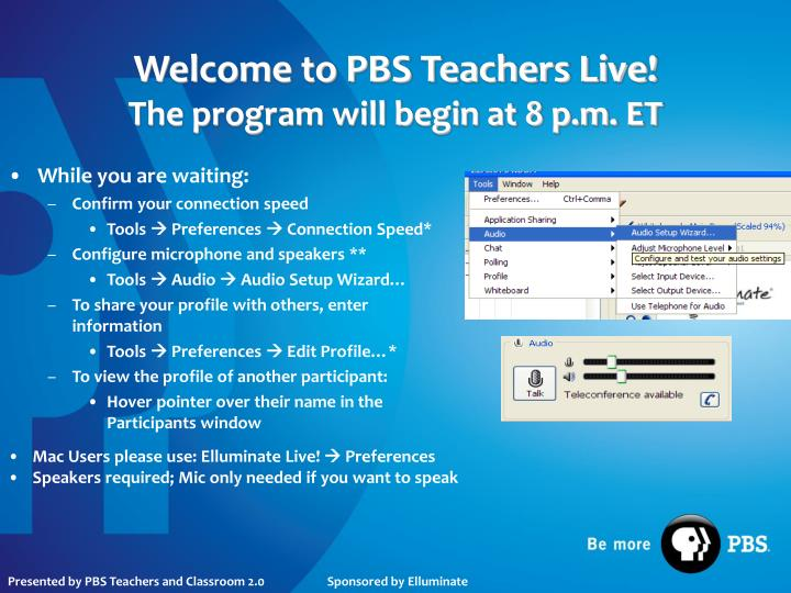 welcome to pbs teachers live the program will begin at 8 p m et n.