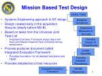 mission based test design