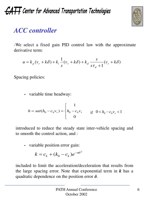 ACC controller