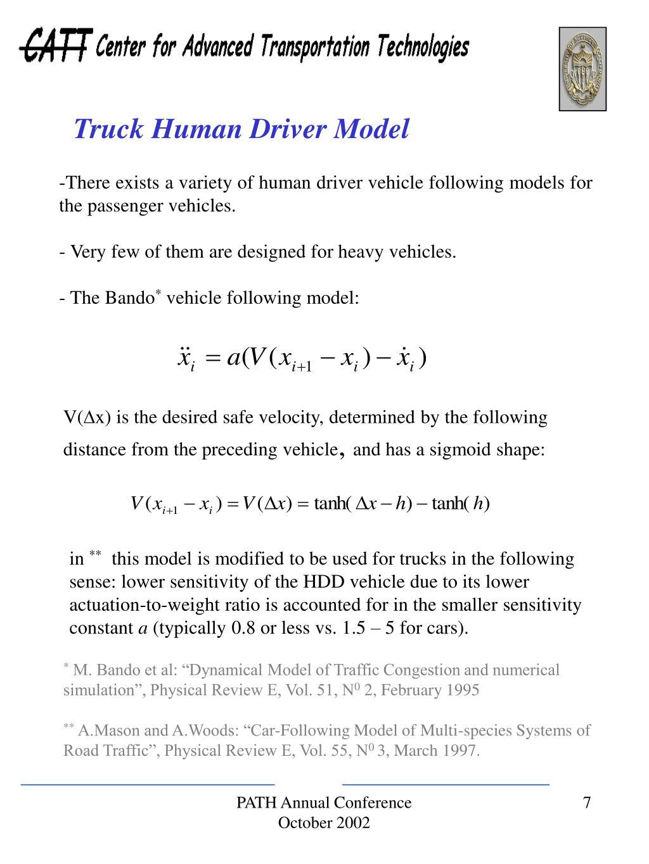 Truck Human Driver Model