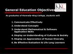 general education objectives