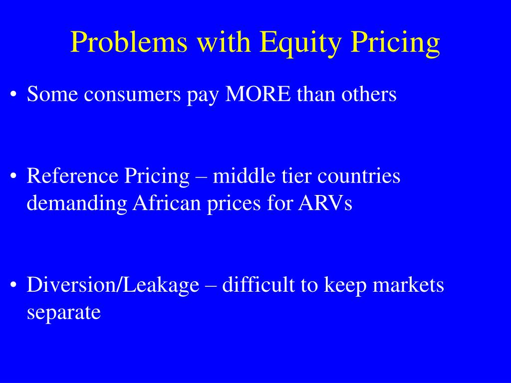 Problems with Equity Pricing