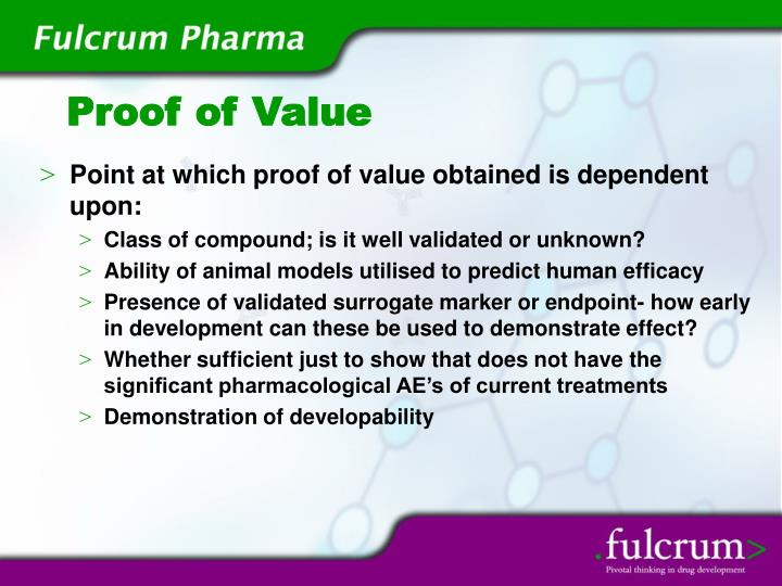 Proof of value
