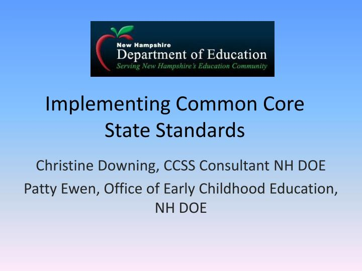 implementing common core state standards n.