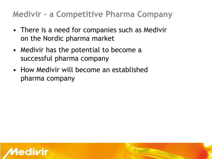 Medivir a competitive pharma company