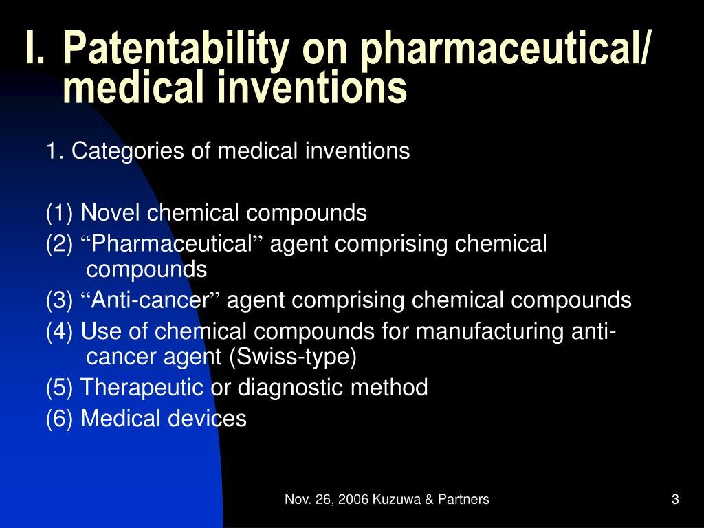 Patentability on pharmaceutical/