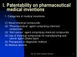 patentability on pharmaceutical medical inventions