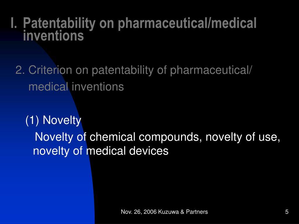 Patentability on pharmaceutical/medical