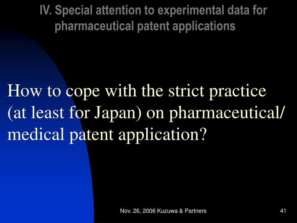 IV. Special attention to experimental data for