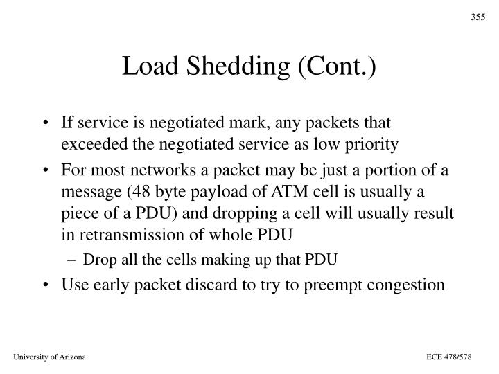 Load Shedding (Cont.)