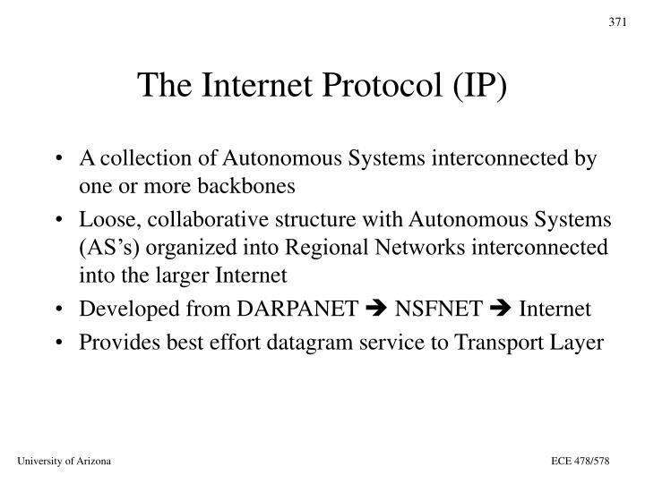 The Internet Protocol (IP)