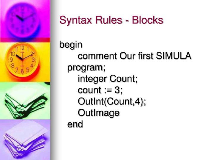 Syntax Rules - Blocks