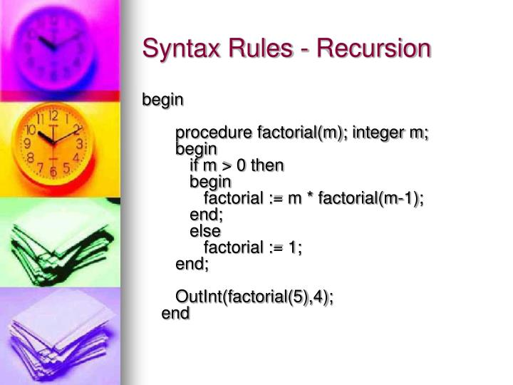 Syntax Rules - Recursion