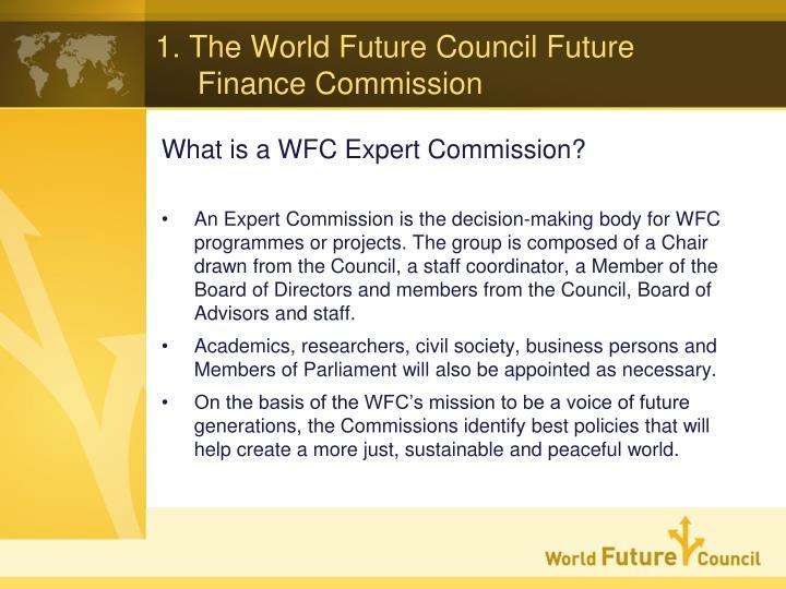 1 the world future council future finance commission