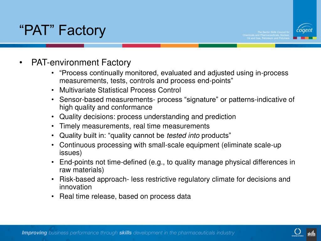 """PAT"" Factory"