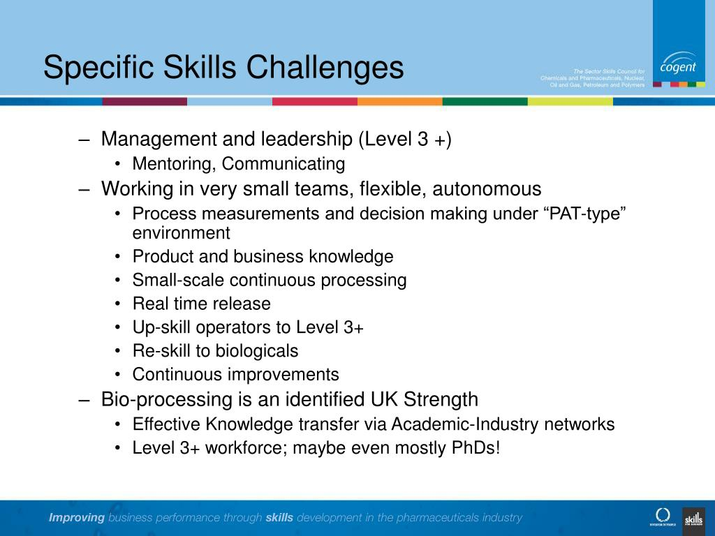 Specific Skills Challenges